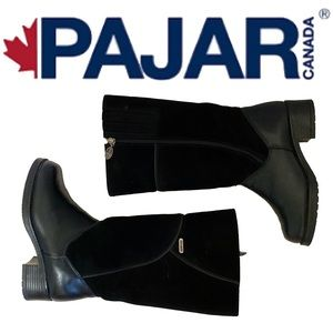 PAJAR leather and suede shearling lined boots